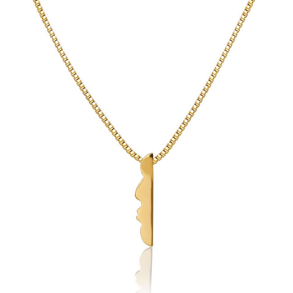 BUBBLE BOY NECKLACE - GOLD/BLACK