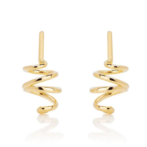 POP COIL EARRINGS - GOLD
