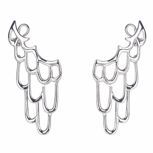 LARGE SIREN EAR CUFF - SILVER