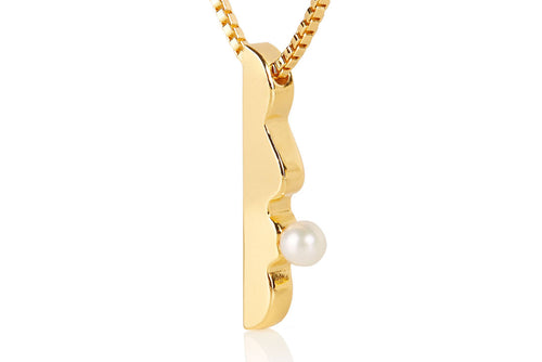 pearl, necklace, two tone jewelry, gold