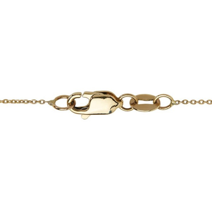 14k yellow gold chain clasp, made in new york.