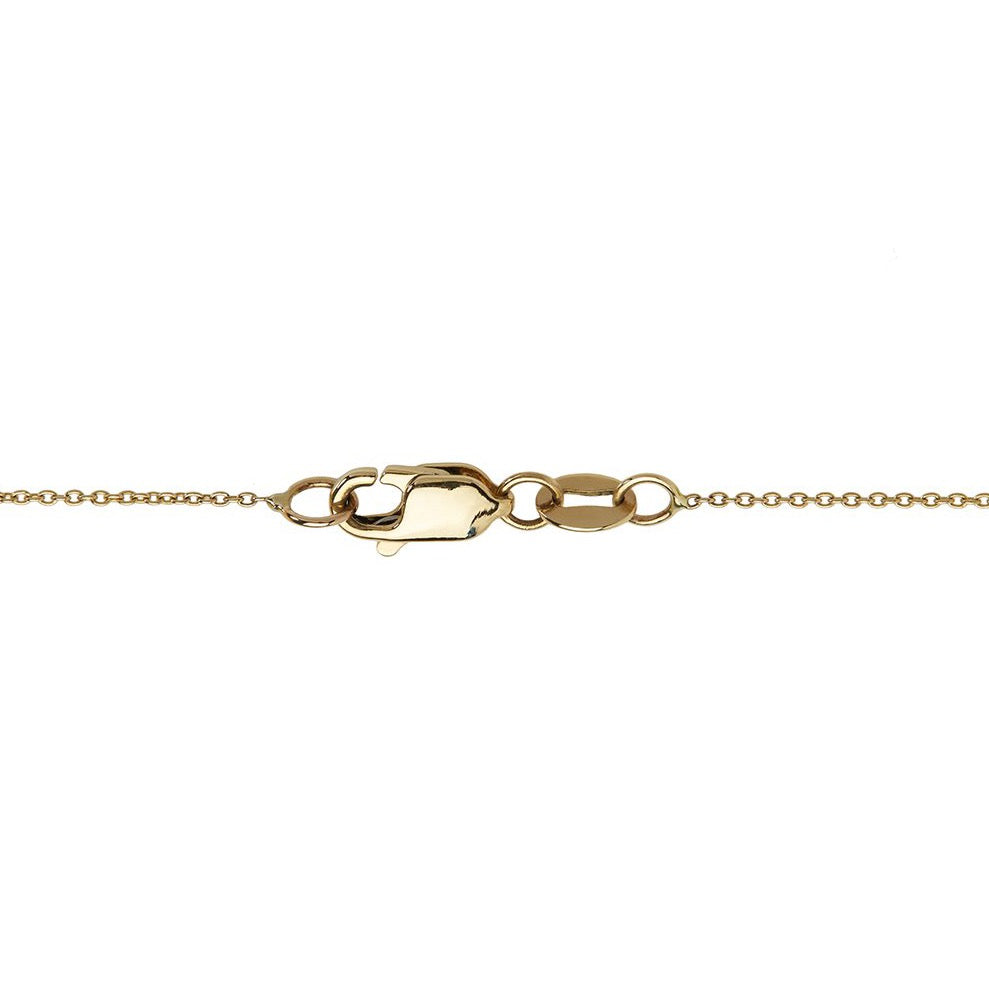 14k yellow gold necklace lobster clasp