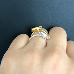 HAPPY PIGLET RING - GOLD