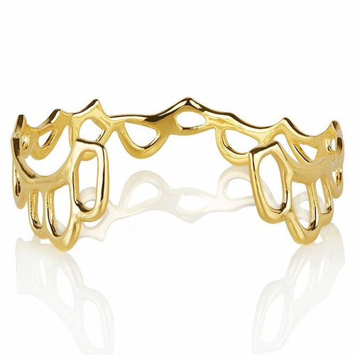 MEDIUM SIREN CUFF - GOLD