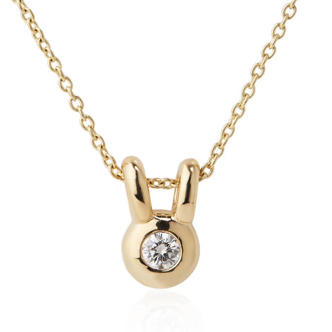 GOLD BEAR DIAMOND NECKLACE