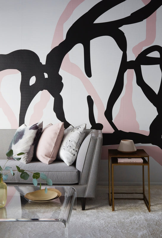 Painted Art Wall Mural Interior Design - Sofia Hollsten + Tara Benet Design