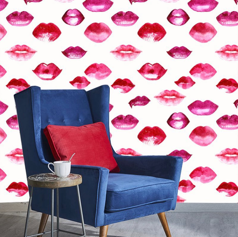 Watercolor Lips Wallpaper