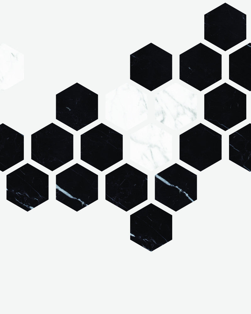 Hexagon Pattern Wall Mural