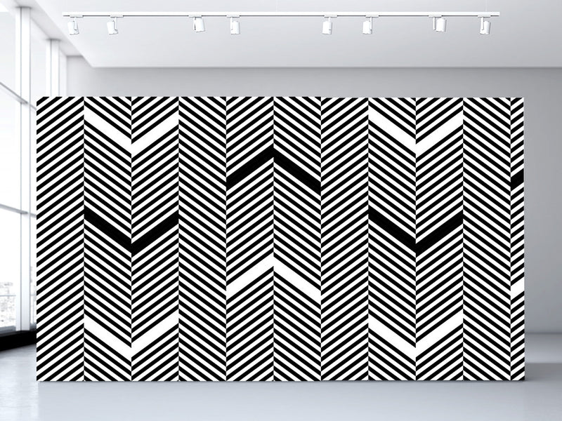 Chevron Wall Mural