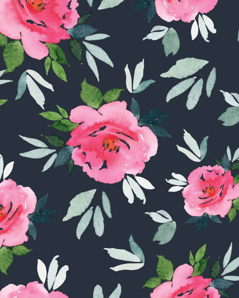 Simoney Peonies Wallpaper Olivia Poppy