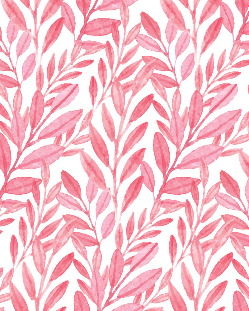 Pink Reef Watercolor Wallpaper