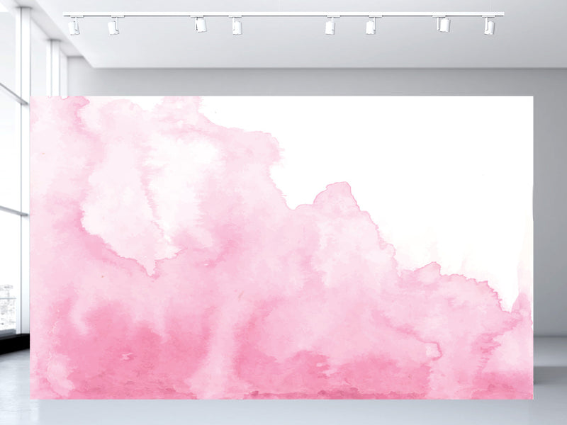 Pink Spill Watercolor Wall Mural