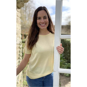 Luella Ladies T-Shirt - Iona Design. Lemon