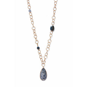 Envy Long Stone Pendant Necklace