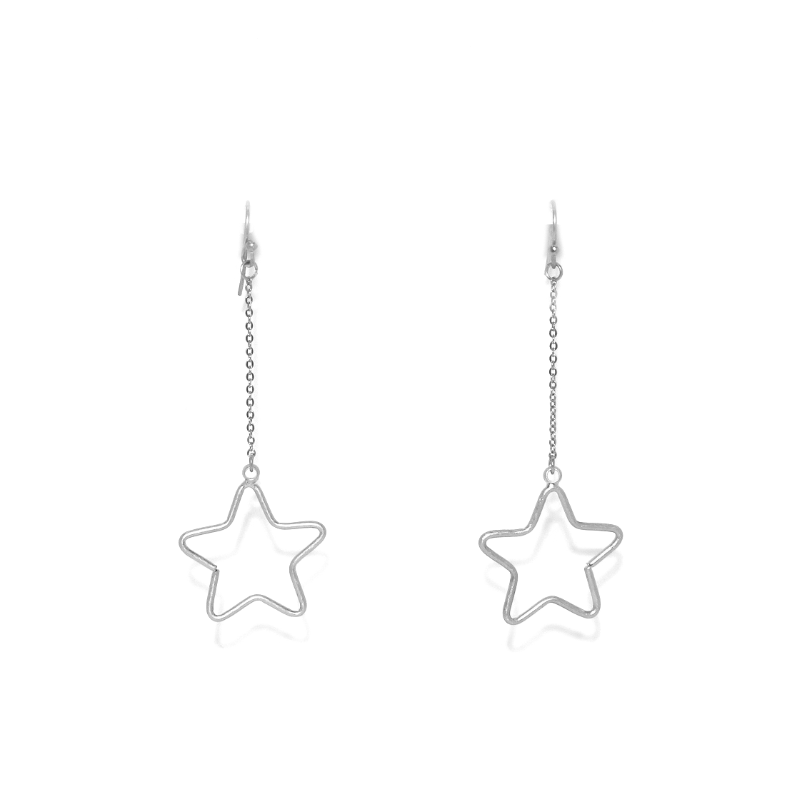 Envy Silver Star Drop Earrings