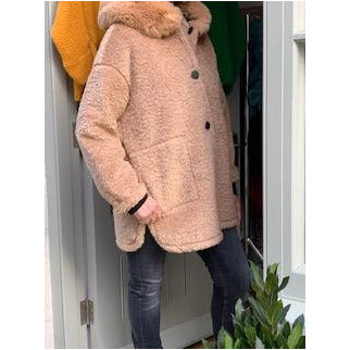 Reversible oversized Hooded Jacket - Camel were £179 now £89