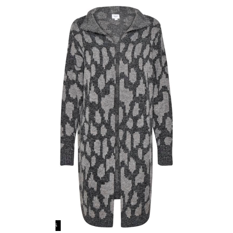 Saint Tropez Grey Animal Print Cardigan
