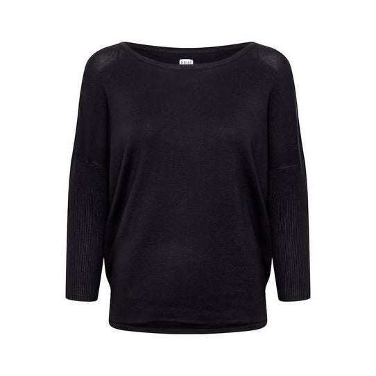 Saint Tropez Ladies Round Neck Pullover  - Navy
