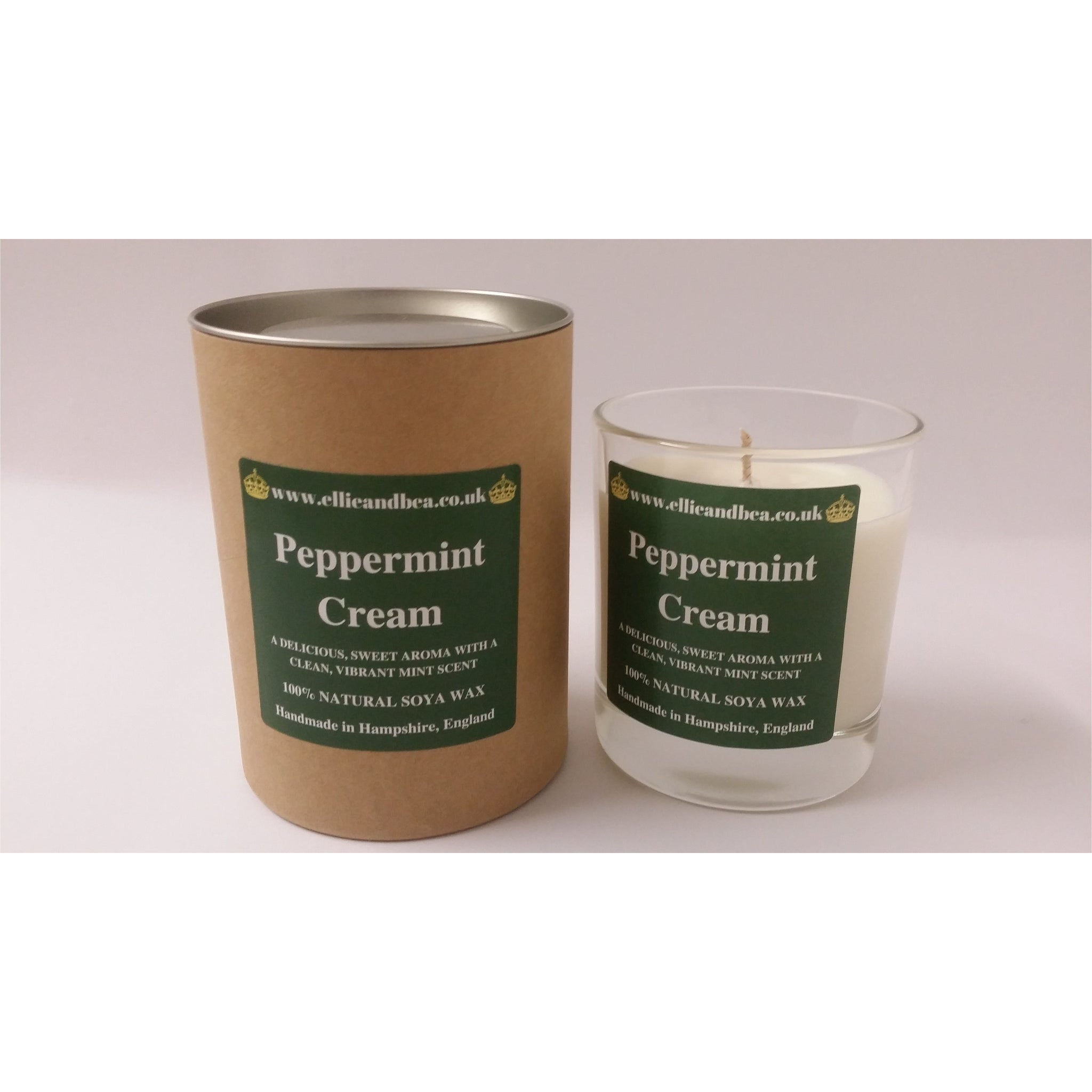 Ellie and Bea Peppermint Cream Candle (220g)