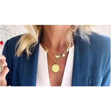 Ashiana Double Layered Coin Necklace