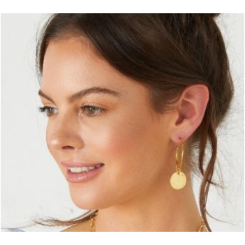 Hoop and Coin Earrings - Gold