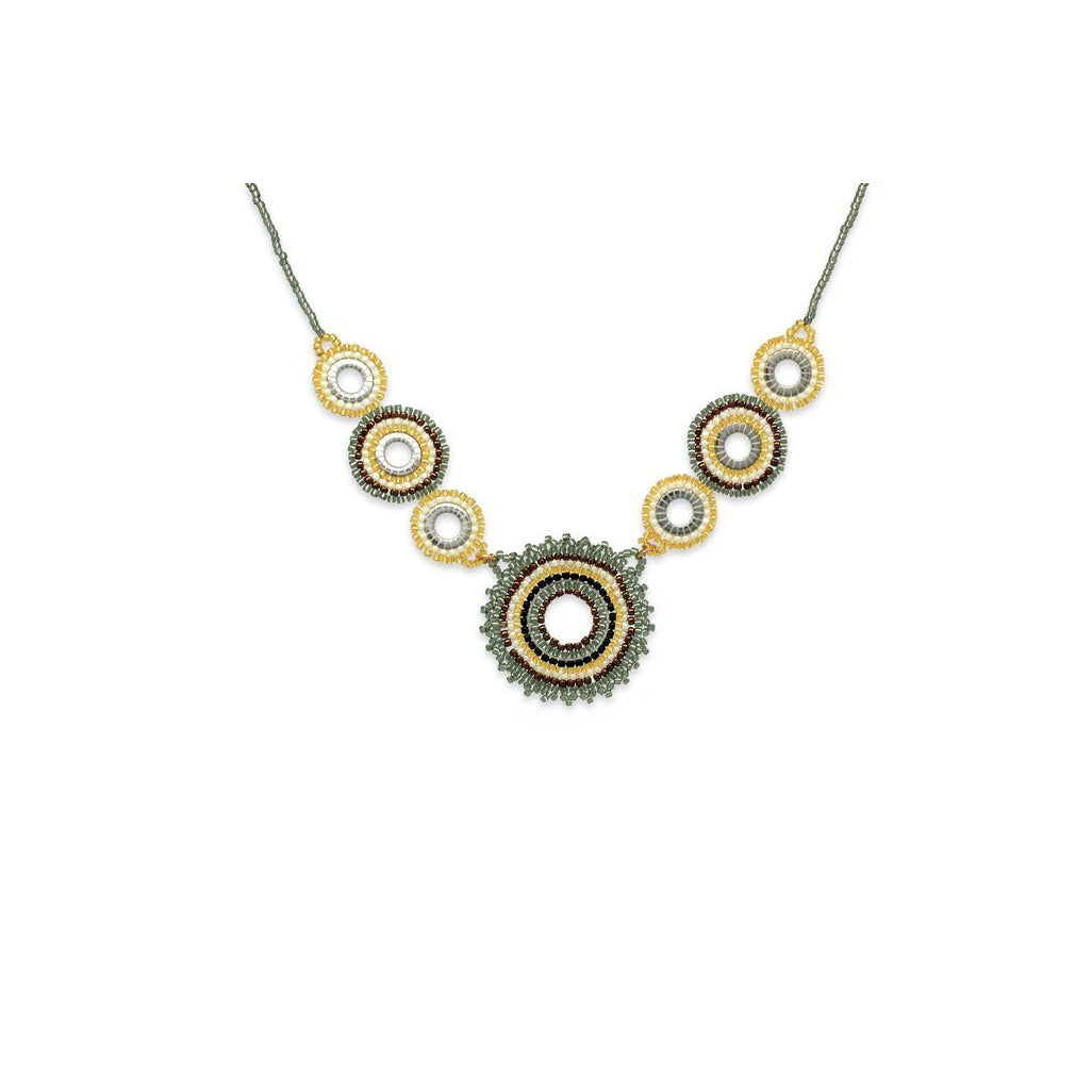 Demeter Seed Bead Necklace - Grey