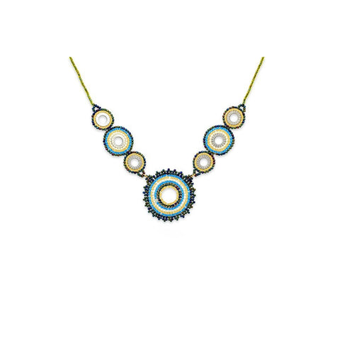 Demeter Seed Bead Necklace - Teal