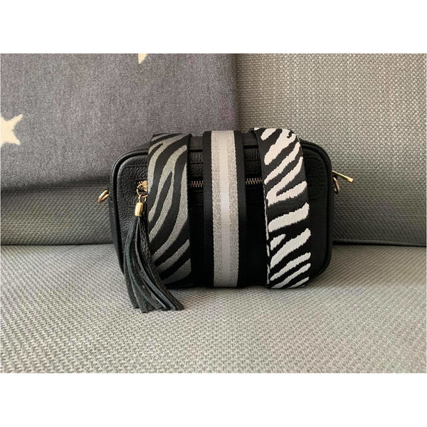 Black and Silver Zebra Strap