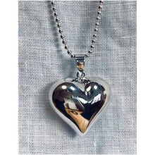 Large Sterling Silver Heart Necklace