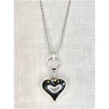 Personalised Large Sterling Silver Heart Necklace