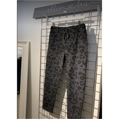Ellie and Bea Ladies Leopard Joggers (Magic Trousers in various colours)