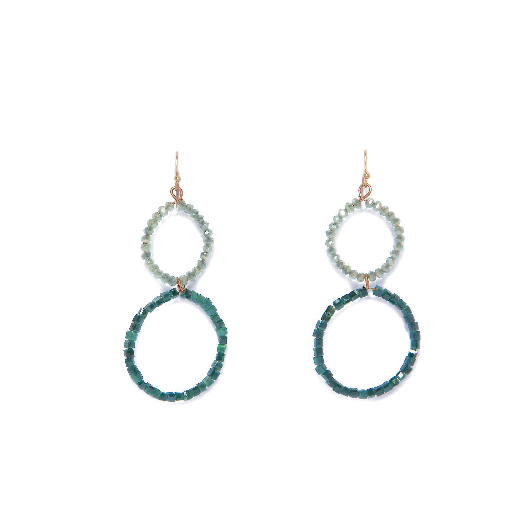 Envy Beaded Earrings - mint aqua