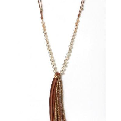 Envy Long Necklace - Pink