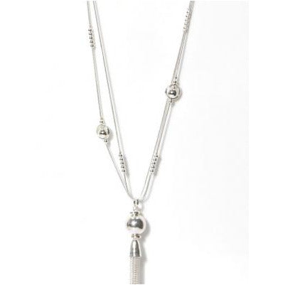 Envy Long Necklace - Silver