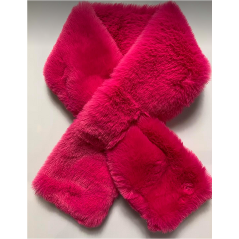 Faux Fur Scarf - Hot Pink