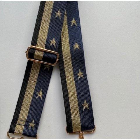 Ellie and Bea Crossbody Bag Strap - Stars Navy