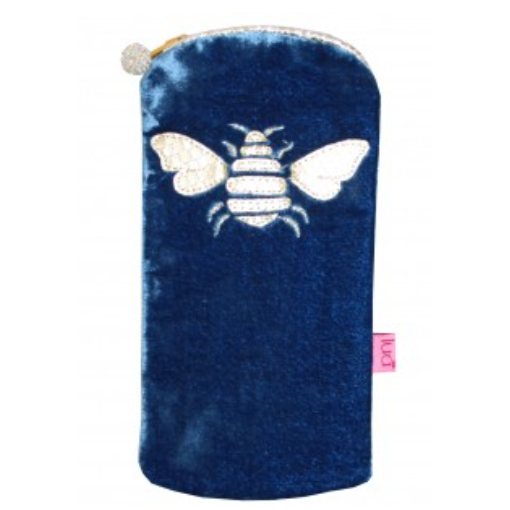 Bee Glasses Purse - blue