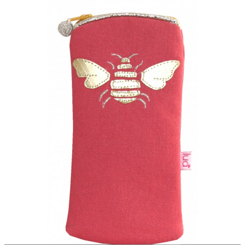 Bee Glasses Purse - Coral