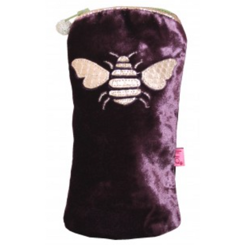Bee Glasses Purse - fig