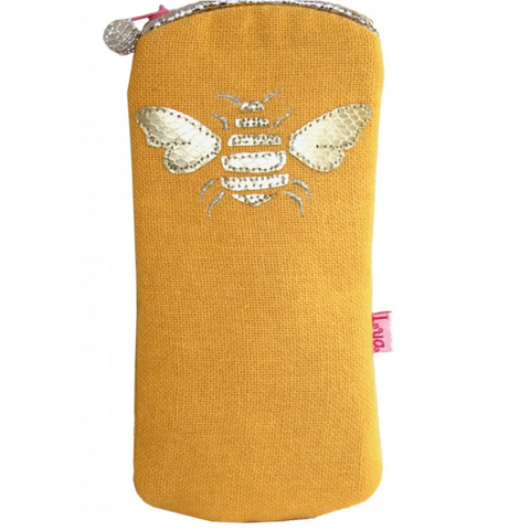Bee Glasses Purse - Ochre