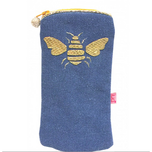 Bee Glasses Purse - Petrol