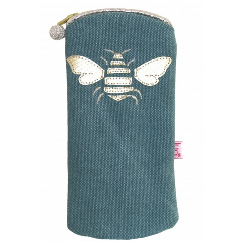 Bee Glasses Purse - Teal