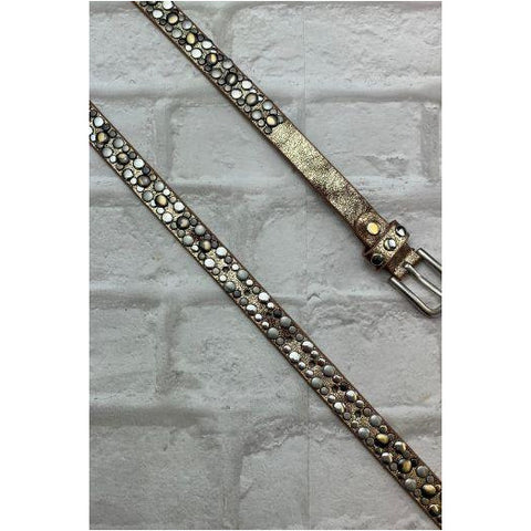 Luella Gold Studded Slim Belt