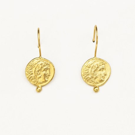 Athena Gold Coin Earrings