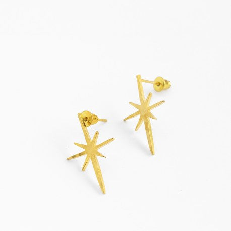 Gold Northern Star Stud Earrings