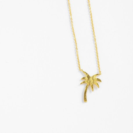 Small Gold Palm Tree Necklace