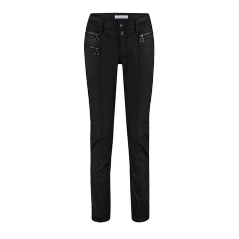 Red Button Ladies Jeans - Sara Coated Black