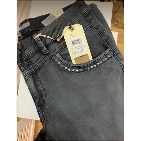 Red Button Ladies Jeans - Lulu Siena Graphite Grey