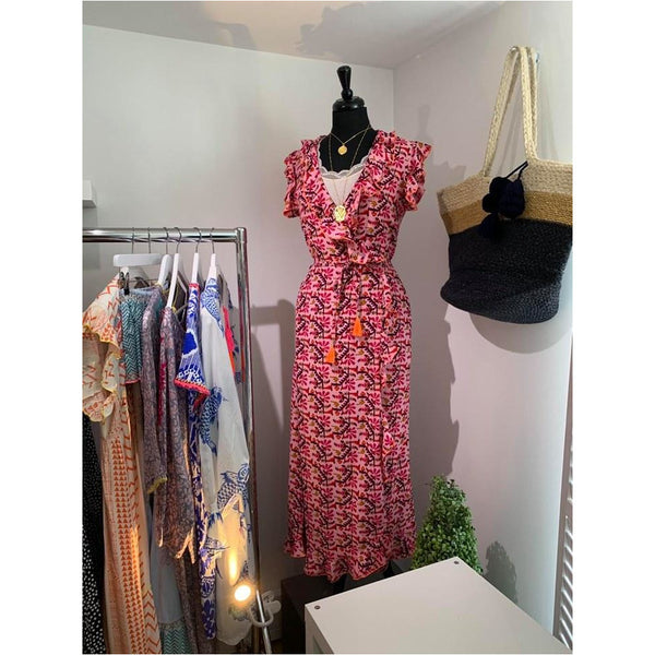 Place du Soleil - Pink Wrap Dress SALE was £140 now £99