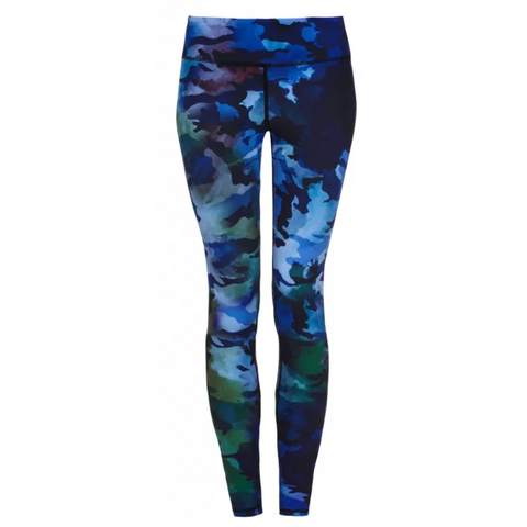 Higher Waisted Sports Luxe Leggings -Cammo Blue